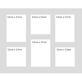 Multi Aperture Mount for 50.8cm x 40.6cm (20″ x 16″) Frame