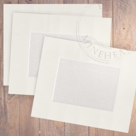 16″ x 12″ Pack of 6 – £1.60 Per Mount – Choice of Colours and Aperture Size