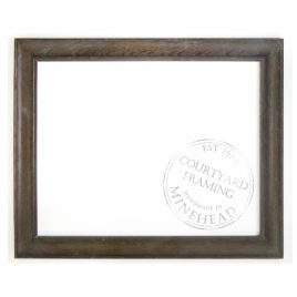 2″ (5cm) wide stained oak frame – Early 20th Century – Option to Resize