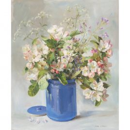 C5093 Apple Blossom in a Blue Jar